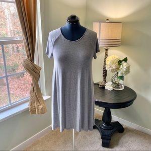 Old Navy Gray Short Sleeve Knit Dress Size L